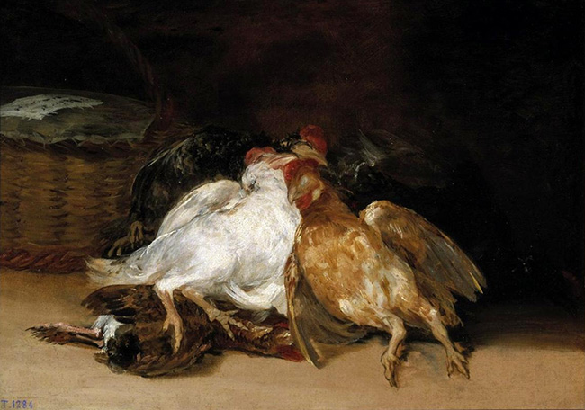 Dead Birds - Francisco Goya, 1808-1812